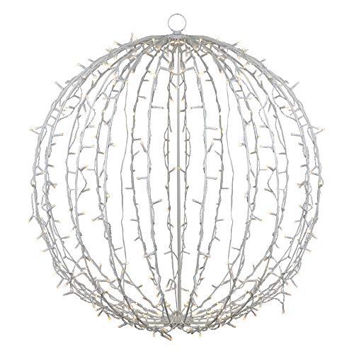 34' LED Lighted Christmas Hanging Ball Decoration – Warm White Lights