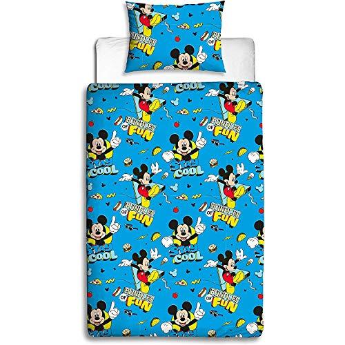 Disney Juego de edredón Mickey Mouse, Estampado, Multicolor, Individual