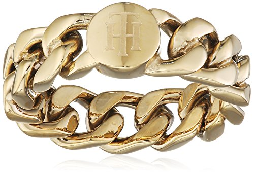 Tommy Hilfiger Jewelry Classic Signature 2700967C - Anillo para mujer (acero inoxidable, talla 54)