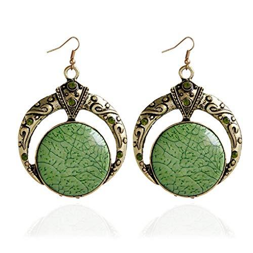 Preisvergleich Produktbild Vektenxi Vintage Tropfen baumeln Ohrring Türkis Malachit Stein Perlen Anhänger Modeschmuck Frauen langlebig und nützlich