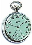 Bernex Swiss Made mecánico sólido Plata de Ley Cara Abierta Reloj de Bolsillo