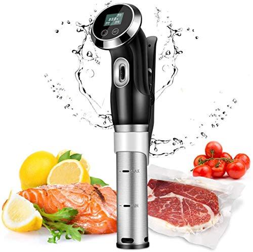 YZXZM Einhängethermostaten, 1500W Vacuum Lebensmittel Backofen, LCD-Digitalanzeige, Niedertemperatur-Vakuum Langsam Kochen, Verarbeitung Steak, Lammkoteletts, Geflügel