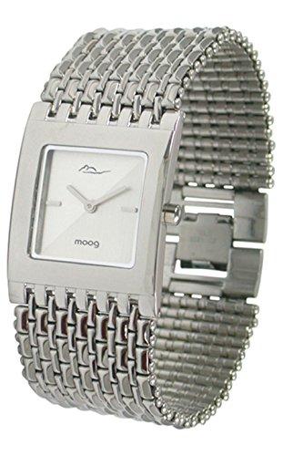 Moog Paris Luxury Damen Uhr mit Silbernem Zifferblatt, Silbernem Armband aus Edelstahl - M46054F-001