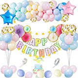 誕生日 飾り付け バルーン マカロン 風船 カラフル HAPPY BIRTHDAY 装飾 バースデー ガーランド バースデー パーティー 祝い風船 バルーンアーチ バルーンセット