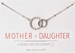A+O Mother and Daughter Jewelry Gift - Interlocking Circles Necklace or Bracelet in Silver, Rose Gold, Gold