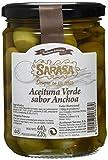 Sarasa Aceituna Verde Manzanilla con Hueso Sabor a Anchoa - Paquete de 12 x 680 gr - Total: 8160 gr