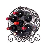 Relaxbx 7 Botellas de vinotecas de Hierro Forjado Estante de Vino botellero 30.7 * 15 * 36 cm Estante de Almacenamiento