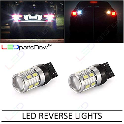 LEDpartsNow White LED Backup Reverse Replacement Lights Bulbs for 2007-2014 Cadillac Escalade, ESV, and EXT 992 7440NA 7440NA 7440 7440ST 7440LL 7441 (2 Bulbs), WHITE