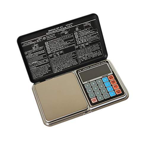 Xinyouluu rekenmachine, elektronische weegschaal, roestvrij staal, precisiesieraden, poeder, wegen, elektronische weegschaal, 200g/0,01G