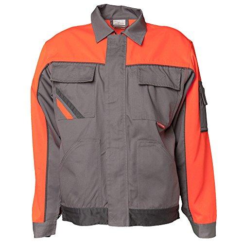 Planam 2410038 - Chaqueta bund visline v1, tamaño 38, zinc/naranja/pizarra