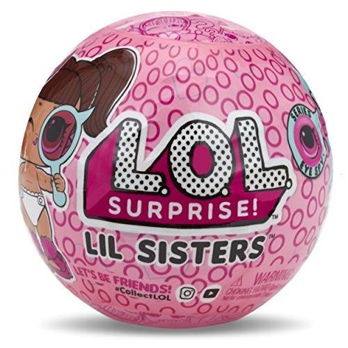 Lil Surprise – Lil Sisters Serie Spion-Puppe mit Kugel Schlüsselanhänger, 5 Überraschungen Importversion Mehrfarbig