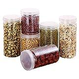 Contenedores de almacenamiento de alimentos herméticos de cereales Set de dispensador de cereales para harina Snacks Nueces y suministros para hornear