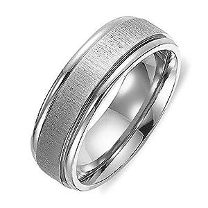 Gemini Damen-Ring Titan , Herren-Ring Titan , Freundschaftsringe , Hochzeitsringe , Eheringe, gebürstet, Breite 6mm Größe 53 - 77