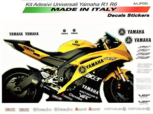 Sticker Set Universal Yamaha R6 Schwarz