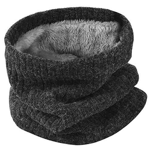 HIDARLING Invernale Berretti in Maglia con Sciarpa Invernale Beanie Set Cappello in Lana Sintetica Calda per Uomo/Donna (Grigio)
