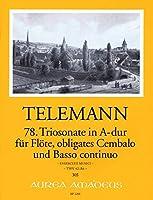 TELEMANN - Trio Sonata en La Mayor (TWV:42/a 6) para Flauta, Clavecin y BC (Partitura/Partes)
