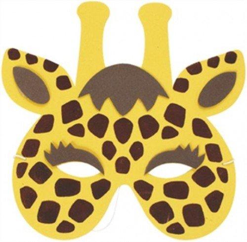 Mask Zoo Animal Giraffe (Soft Foam) for Fancy Dress Masquerade Accessory