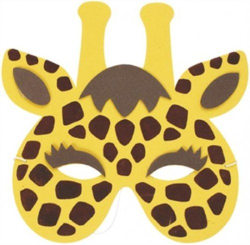 Mask Zoo Animal Giraffe (Soft Foam) for Fancy Dress Masquerade Accessory