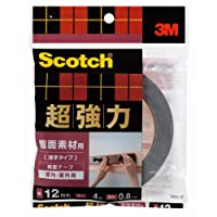 3M スコッチ 超強力両面テープ 粗面素材用 薄手タイプ 12mm×4m SRO-12