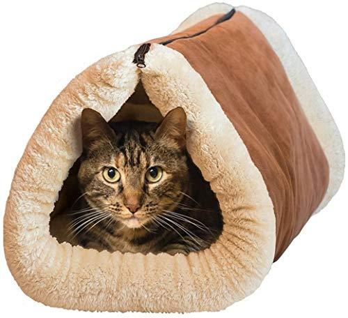 MAX-CARE Maxcare Deluxe 2in 1Tubo Cat Tappetino e Letto, con Cuccia autoriscaldante Thermal Core...