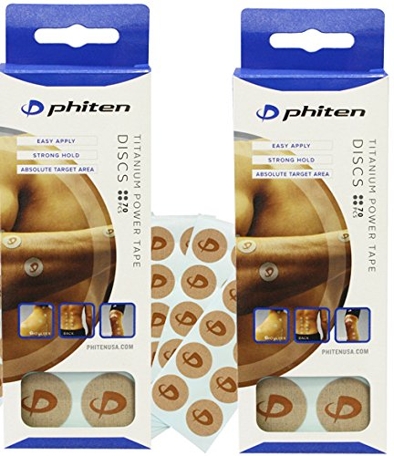 Phiten Titanium Power Tape Discs 70 Count (2 Boxes)