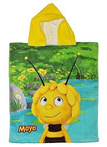 alles-meine.de GmbH Badeponcho Biene Maja 50 cm * 115 cm - 4 bis 8 Jahre Poncho - Handtuch Strandtuch Baumwolle - Kinder Honigbiene Tier Tiere