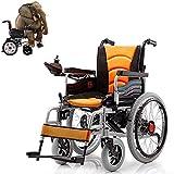 La Silla de Ruedas eléctrica, Silla de ruedas eléctrica plegable - silla de ruedas eléctrica Plegable - silla de ruedas eléctrica plegable Sillas de ruedas eléctricas con batería de litio,Yellow