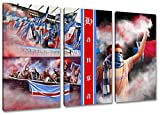 Ultras-Art Rostock Collage, 3-Teiler Format: 120x80, Bild