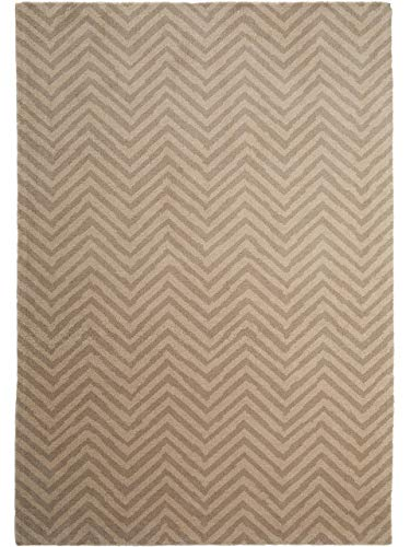 Benuta Wollteppich Nesta Beige 140x200 cm - Naturfaserteppich aus Wolle