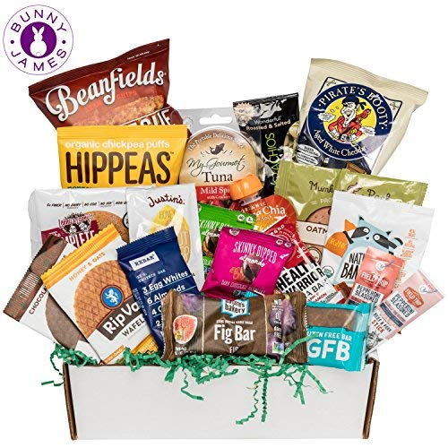Healthy Snacks Sampler Gift Box: Variety Of Sweet & Savory Gourmet Food Snacks, Premium Care Package Holiday Gift Box