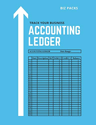 Accounting Ledger: Balance Sheet for Business Bookkeeping and Personal Finance - Easily Track Dates, Accounts, Debits, Credits and Balances for Budgeting, Financial and Tax Purposes