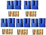 FLY RC 5 coppie EC8 Connettori a Spina a Banana Femmina Maschio 8.0mm Connettore a pallottola in Oro per RC ESC LIPO Batteria Motore Elettrico