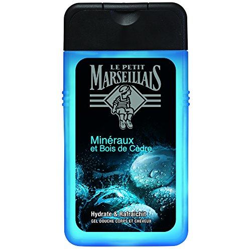 Le Petit Marseillais Gel de ducha hombre cuerpo y cabello mineral & Madera de cedro flacon 250ml–juego de 3