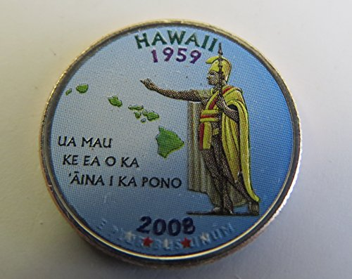 2008 Various Mint Marks Hawaii State Colorized Quarter Choice Uncirculated