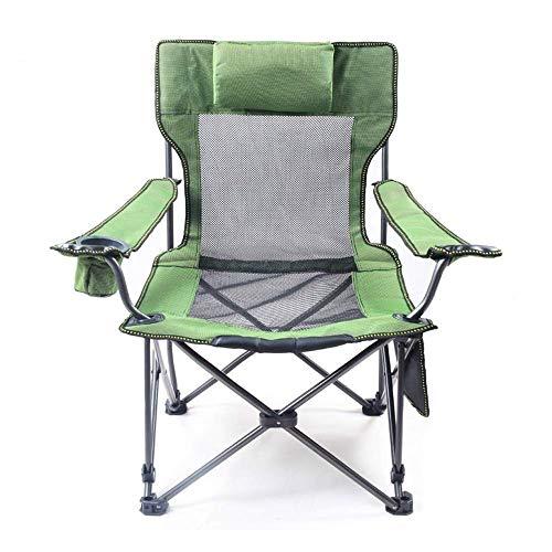 FLZXSQC Silla plegable ligera y duradera, silla plegable de doble uso con reposabrazos, soporte de taza y transporte