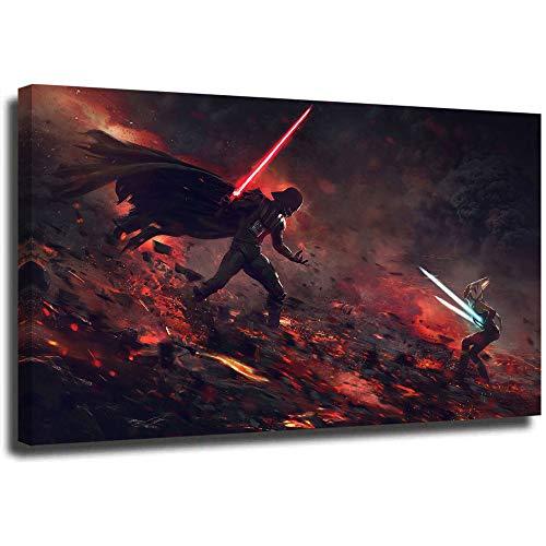 STTYE Star Wars Ahsoka Tano Darth Vader Kunst-Poster, 45,7 x 30,5 cm, gerahmt, fertig zum Aufhängen