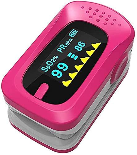 YXZQ Oximeter, 1,1-Zoll-Farbbildschirm-Fingerpulsoximeter, tragbarer Haushalts-Fingerspitzen-Pulsoximeter Spo2-Monitor, EIN-Knopf-Bedienung, geeignet für die häusliche Gesundheit, Rose