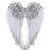 GLOA Angel Wing Brooch Pin, Women Rhinestone Inlaid Angel Wing Brooch Pin Cardigan Scarf Corsage Badge Decor X331-3