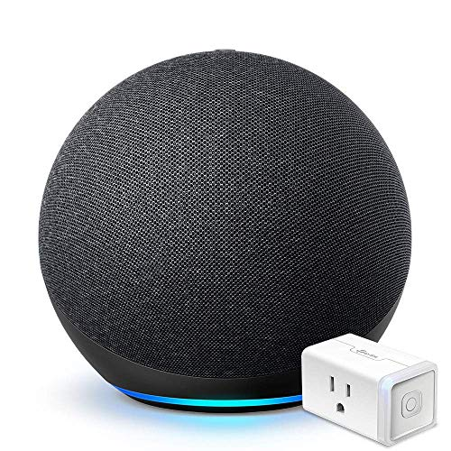 All-new Echo (4th Gen) - Charcoal - bundle with TP-Link Smart Plug (Certified for Humans product)