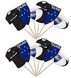 AK Giftshop Rugby-Party, Essen, Kuchen, Cupcakes, Stäbchen, Dekoration, stehend, Flaggen, Neuseeland, 12 Stück