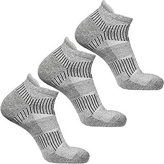 DOUBLE M, Pack 3 Calcetines Deporte Invierno Térmicos, Calcetines Tobilleros de Algodón, Calcetines Cortos Hombre Mujer, T...