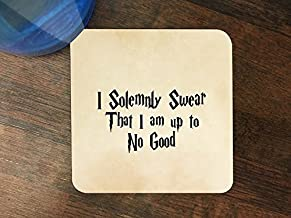 Popular Funny Quote Silicone Drink Beverage Coaster 4 Pack
