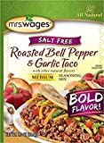 Mrs. Wages Salt Free Fire Roasted Tomato and Toasted Onion Taco Seasoning Mix (VALUE PACK of 12)