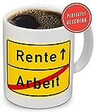 Smilu® Rentner Geschenk, Ruhestand Geschenk, Renteneintritt Geschenk, Rentner Tasse zum...