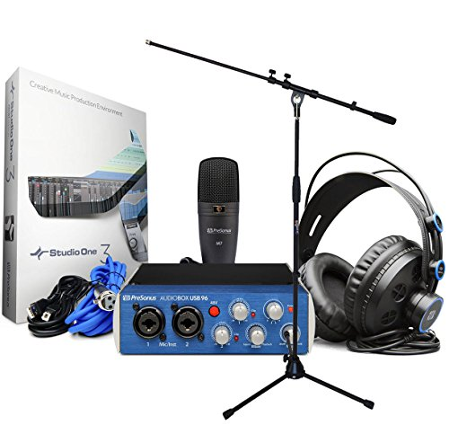PreSonus AudioBox 96Studio Recording Set + Soporte para micrófono Keepdrum