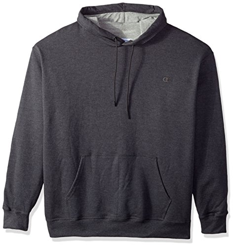 Champion Men's Powerblend Pullover Hoodie, Granite Heather, Large