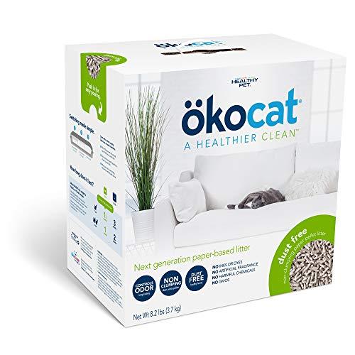 ökocat Dust-Free Natural Paper Non-Clumping Cat Litter Pellets with Odor Control, Medium, 8.2 lbs.