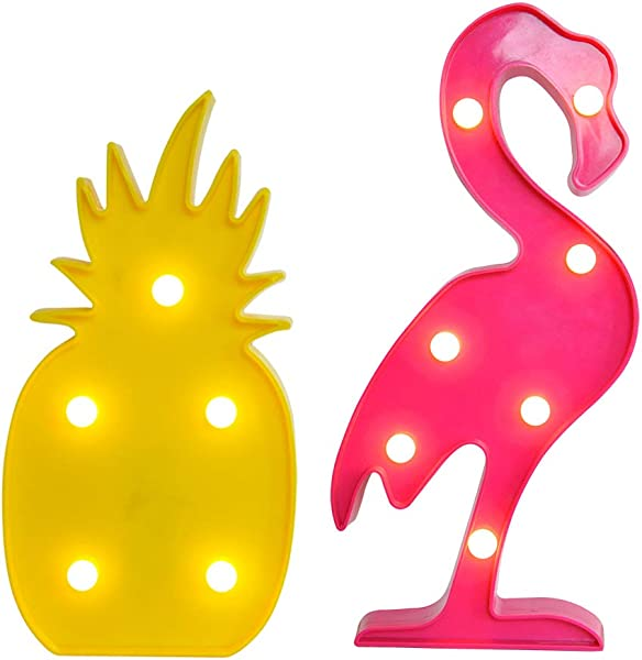 AceList Flamingos Pineapple Lights Party Decorations Lights Gift For Tropical Themed Party Living Room Bedroom Home Kid S Room Christmas