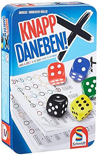 Schmidt Spiele 51426 Knapp Daneben, Würfelspiel in der Metalldose,...