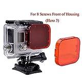 Homree Filtre rouge pour GoPro Hero 5, filtre étanche à clipser sur l'objectif pour la photographie sous-marine, for...